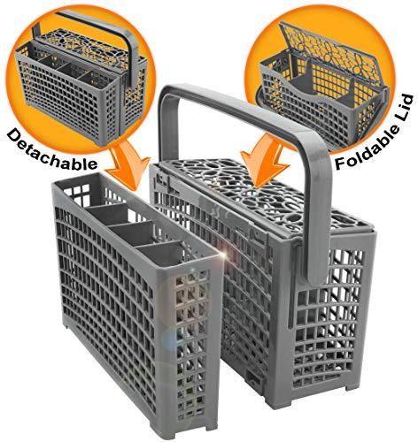 Universal Dishwasher Silverware Replacement Basket - Utensil/Cutlery Basket - Fits Bosch, Maytag, Kenmore, Whirlpool, KitchenAid, LG, Samsung, Frigidaire, GE