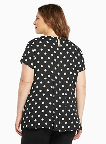 Polka Dot Georgette Hi-Lo Blouse
