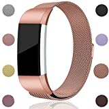 For Fitbit Charge 2 Bands, Maledan Stainless Steel Milanese Loop Metal...