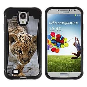 iKiki Tech / Estuche rígido - Baby Leopard Cub Mother Cute Puppy - Samsung Galaxy S4 I9500