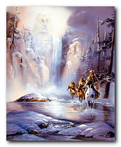 Indian Spirit of Strength Native American Wall Decor Art Print Poster (16x20)