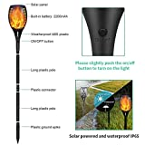YoungPower Landscape Solar Torch Lights, Waterproof Flickering Flames Torches Lights Outdoor Solar Flame Lights Decoration Lighting Dusk to Dawn Auto On/Off Security Light for Deck Yard Driveway, 2P