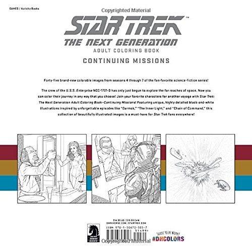 Amazon.com: Star Trek: The Next Generation Adult Coloring Book ...