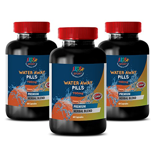 metabolism architecture - WATER AWAY PILLS 700MG - immune system for men - 3 Bottles (180 Capsules)