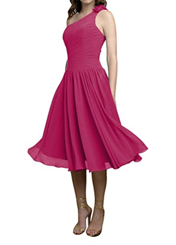WeiYin Women's One Shoulder Short Party Dress Bridesmaid Dresses