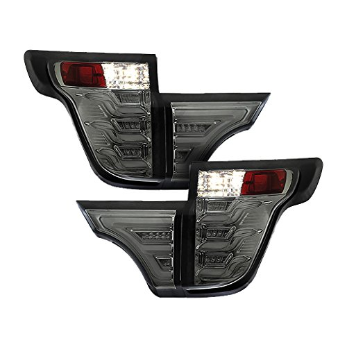 Torcia Auto Fits Ford Explorer 11-15 Sequential LED Tail lights, Smoke Lens & Chrome Housing, Cruising Edition (TYPE S)