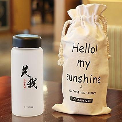 Guoke Elegante y moderno texto creativo limpiador de vidrio esmerilado tazas personalizadas 370ml (16*
