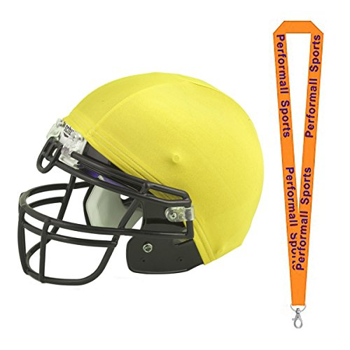 Champion Sports Helmet Cover Yellow (Set of 12) Bundle 1 Performall Lanyard HCGD-1P