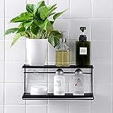 Dirance Multifunctional Double Wrought Iron Shelf Bathroom Free Punching Towel Rack Kitchen Seamless Adhesive Storage Rack