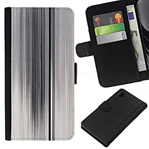All Phone Most Case / Oferta Especial Cáscara Funda de cuero Monedero Cubierta de proteccion Caso / Wallet Case for Sony Xperia Z1 L39 // Lines White Foggy Glass Abstract Clean