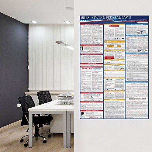 2018 Illinois State and Federal Laws Labor Poster - OSHA Workplace Compliant 36'' x 24'' - UV Coated by Compliance Audit Center (Image #4)