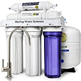 Home Drinking Water Purification iSpring RCC7 WQA Gold Seal Certified 5-Stage Reverse Osmosis Drinking Water Filter System - 75 GPD