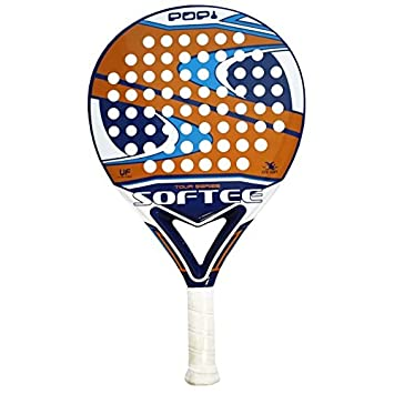 Softee POPI - Pala de pádel, Color Azul/Naranja / Blanco, 36 mm: Amazon.es: Deportes y aire libre