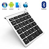 Bluetooth Number Pad, Vive Comb 28-Key External Numeric Keypad with Shortcuts Numpad for Laptop, Desktop, PC, Notebook-Black and Silver