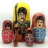 Beatles Sergent Pepper Russian Nesting dolls 5 piece DOLL Set 7''