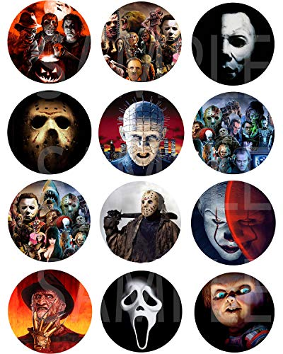 Halloween Chucky Movies (Horror Movie Icons Stickers, Large 2.5