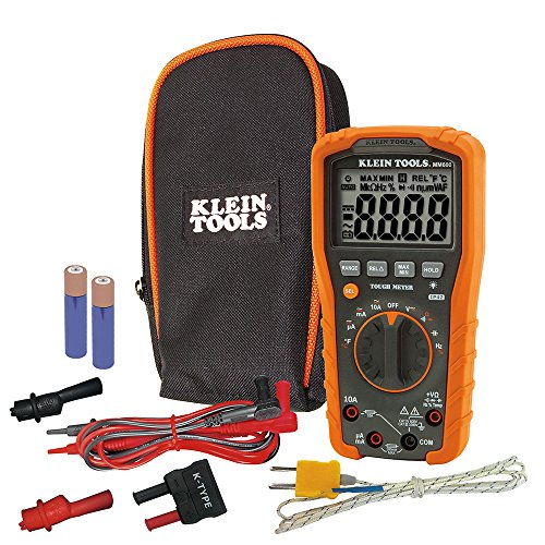 Klein Tools MM600 HVAC Multimeter, Digital Auto-Ranging Multimeter for AC/DC Voltage, and Current, Temperature, Frequency, Continuity, More from Klein Tools