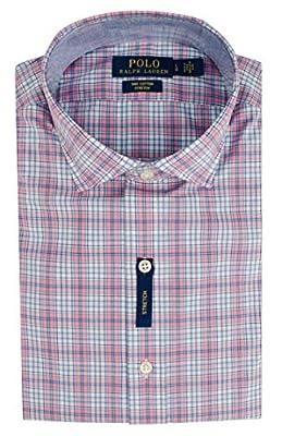 Polo Ralph Lauren Men's Plaid Stretch Cotton Long Sleeve Shirt