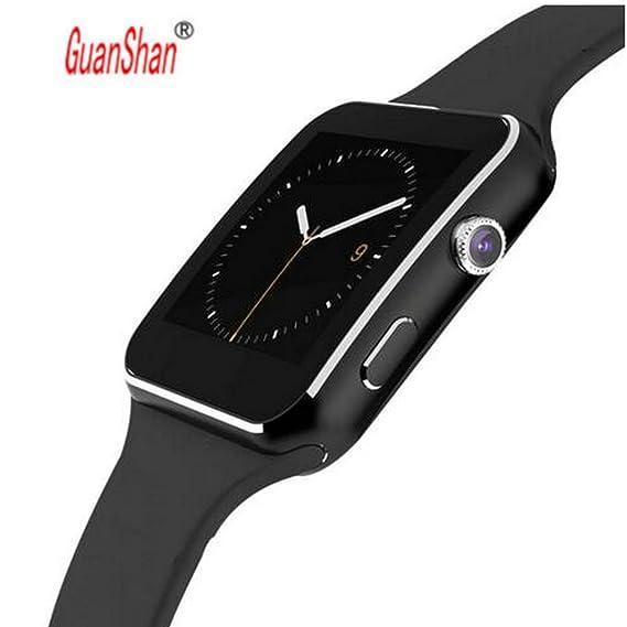 Amazon.com: GUANSHAN Smart Watch On Wrist Bluetooth ...