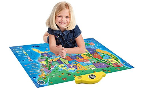 Interactive Talking USA Map For Kids TG660 - Push, Learn and Discover over 500 facts about the USA – Ideal Interactive Learning Toy Gift For Boys & Girls Aged 5,6,7,8,9,10 - By ThinkGizmos