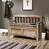 Storage Bench in Craftsmen Oak Finish For Sale