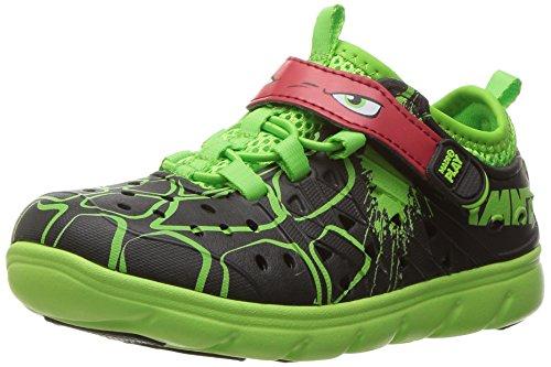 (Stride Rite Made 2 Play Phibian Sneaker Sandal Water Shoe (Toddler/Little Kid/Big Kid), Black/Green, 3 M US Little)