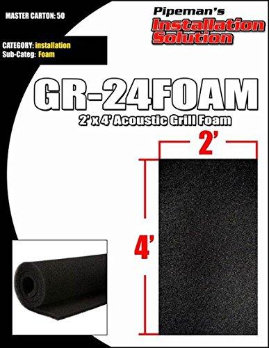 DJ Speaker Woofer Cabinet Grill Foam 2' Wide x 4'Long x 3/8