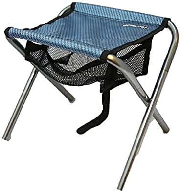 Trekology Portable Folding Stools, Ultralight Compact Camp Footrest Stool, Mesh bag for Storage, Great for Travel, a Quick Rest Outdoors and for Chores Close to the Ground