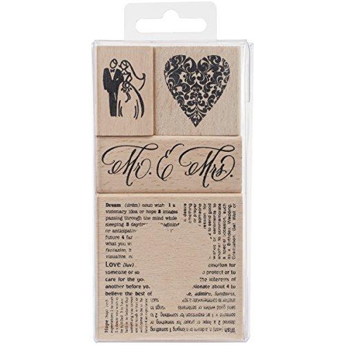 Stampendous, Wood Rubber Stamp Set, Wedding Set (Bride Rubber Stamp)