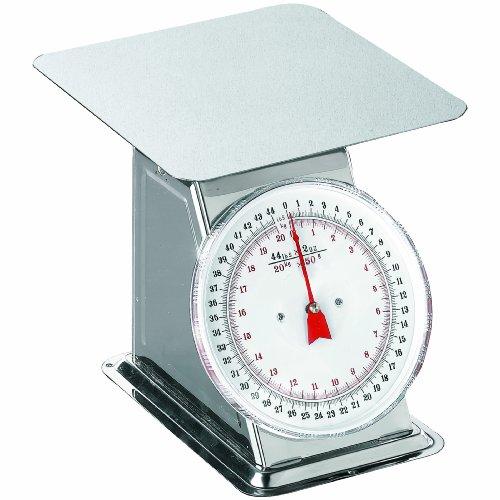 Weston Flat Top Dial Scale, 44-Pound (24-0302)