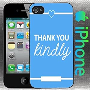 Southern Girl Sayings : Thank You Kindly Iphone 5 / 5s Light Blue and White Heart
