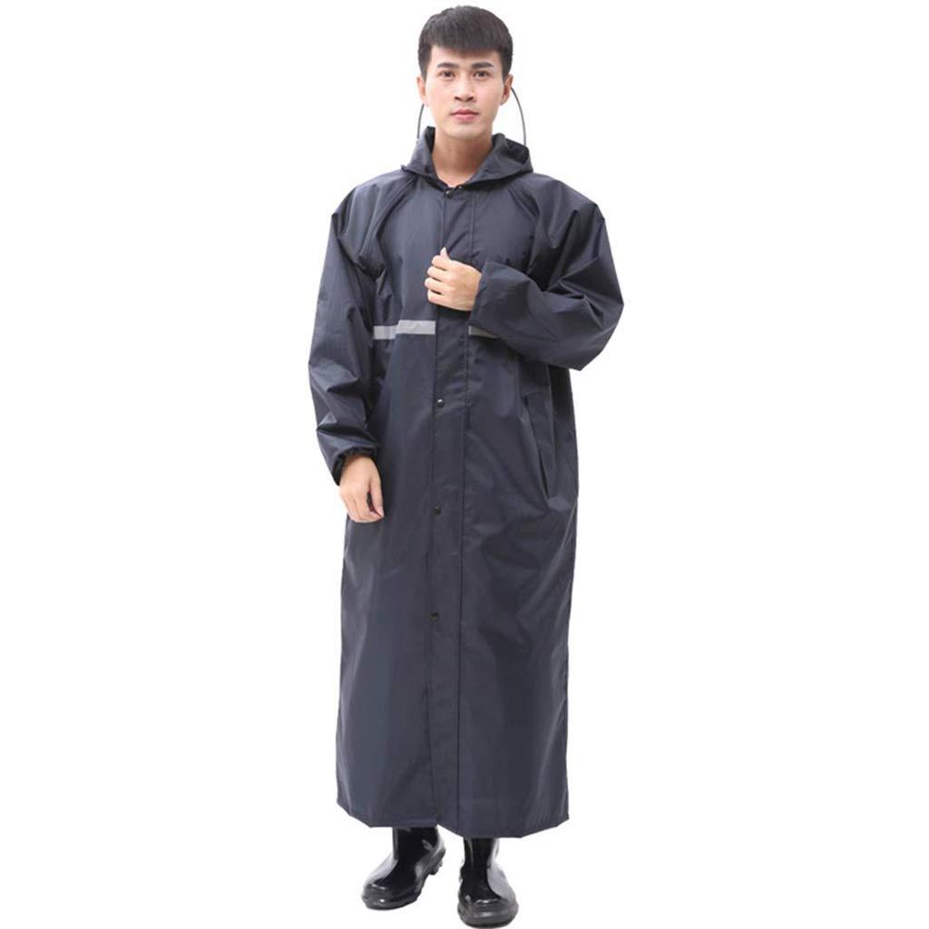 Marine XXXL TzJz Costume imperméable Pluie Veste Manteau Coupe-Vent Poncho Pluie Coupe-Vent Adulte randonnée Mode imperméable équitation Longue épaisseur imperméable en Plein air