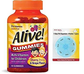Vitaminas de gomitas para niños, cuenta 60 con gratis