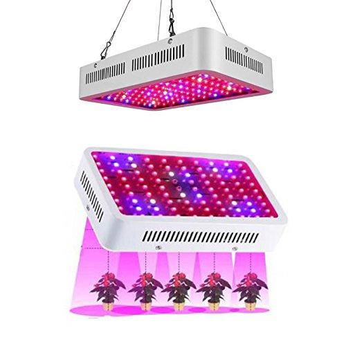 Carejoy 1000W植物成長ランプ 温室野菜植物が光を満たし LED屋内植物フィルライト 室内栽培プラントライト 水生盆栽システム 日照不足解消 植物成長促進用ランプ 温室/園芸に適用 B07B2W8WZT