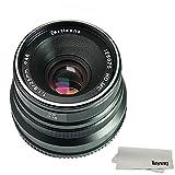 7artisans 25mm F1.8 Manual Focus Lens for Sony Emount Cameras Like A7 A7II A7R A7RII A7S A7SII A6500 A6300 A6000 A5100 A5000 EX-3 NEX-3N NEX-3R NEX-F3K NEX-5 NEX-5N - Black