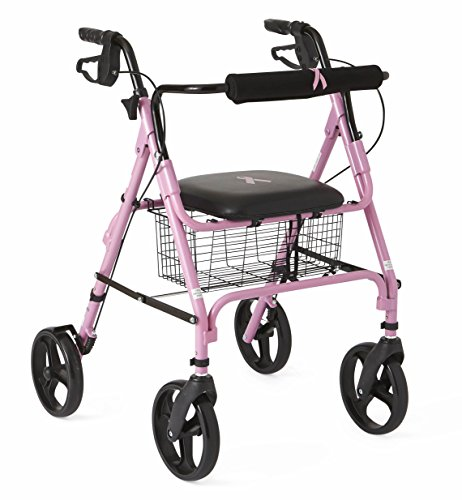Medline Breast Awareness Folding Rollator