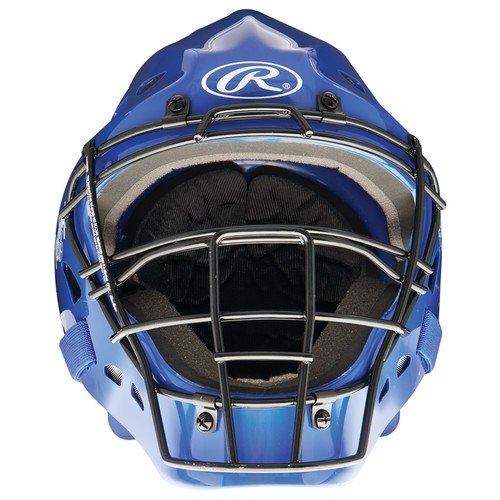 Hockey Style Design Catcher's Helmet, Royal (Catchers Helmet Royal)
