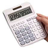 Regular Calculator with Two-Way Power - White
