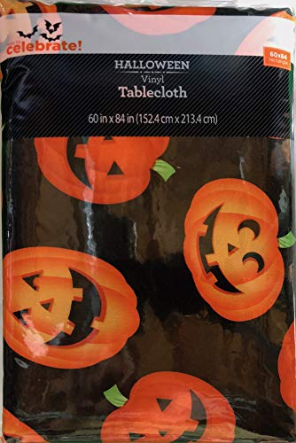 Vinyl Tablecloth 60x84 Halloween Mass Jacks Theme