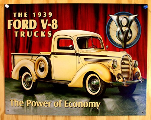 Metal Advertisement Sign (Ford Pick-up 1939 Tin Sign 16 x 11in)