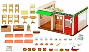 Sylvanian Family 2807 - Restaurante de comida rápida de juguete con accesorios
