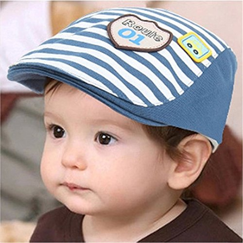 071ef070916 Buy Generic dark blue   2017 New Summer Cotton Comfortable Infant Hats Cute  Casual Striped Soft Eaves Baseball Cap Baby Boy Beret Baby Girls Sun Hat  Online ...