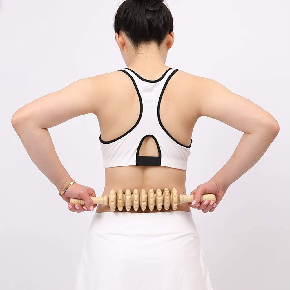 Giveme5 Pack of 2 DIY 40CM Detachable Handheld Cellulite Blasters Massage Trigger Point Manual Muscle Release Roller Stick Massager for Muscle Pain Relief Tool - Color Random: Health & Personal Care