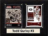NCAA Georgia Bulldogs Men's Todd Gurley Two Card Plaque, Brown, 6''X8''