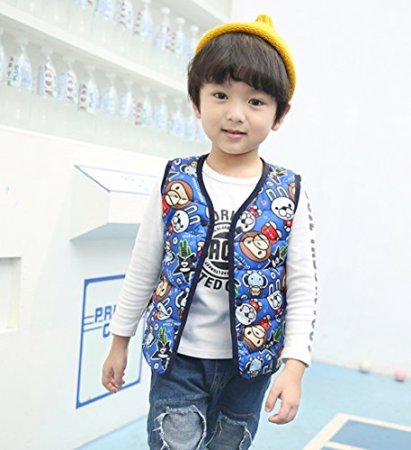 Warm Lightweight Vest Wadded royalblue Children monkey Jacket Outfits Lemonkids;® Kids Cartoon tqfacSw