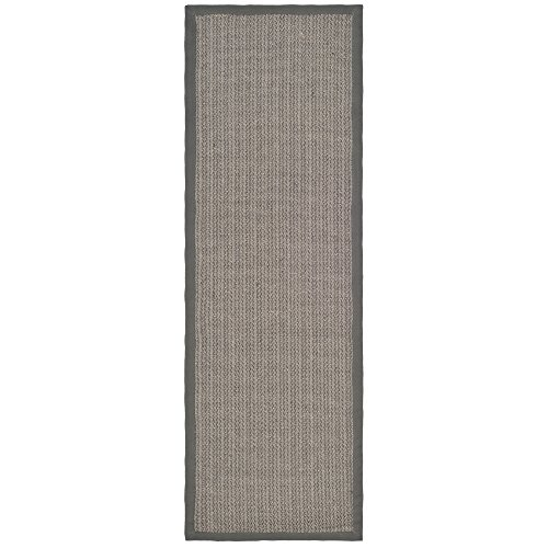 20' Beach Decor (Safavieh Natural Fiber Collection NF444A Herringbone Grey Brown and Grey Sisal Runner (2'6