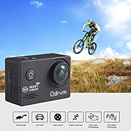 WIFI Action Camera Waterproof 2.0-Inch Diving 30M 170 Degree Wide Angle Underwater Camera With 2PCS Battery for Surfing, Kids, Snorkeling ,Biking, Racing, Skiing, Motocross And Water Sports