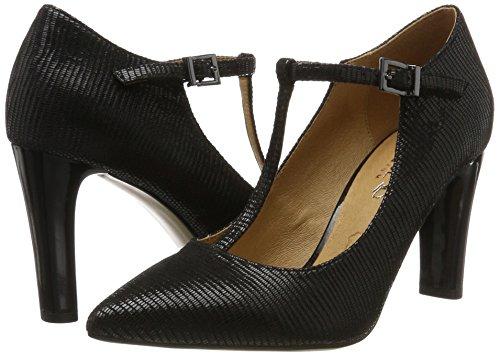 Noire Noir 24401 reptile Caprice Femme Pour Merceditas pwqPI0IY