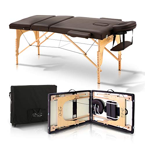 Desireenvy Portable Massage Table With Carrying Case – Easy To Set Up Lightweight Adjustable And Foldable Bed For Physical Therapy, Facial, Tattoo, Spa, And Esthetician Treatment Table Bed