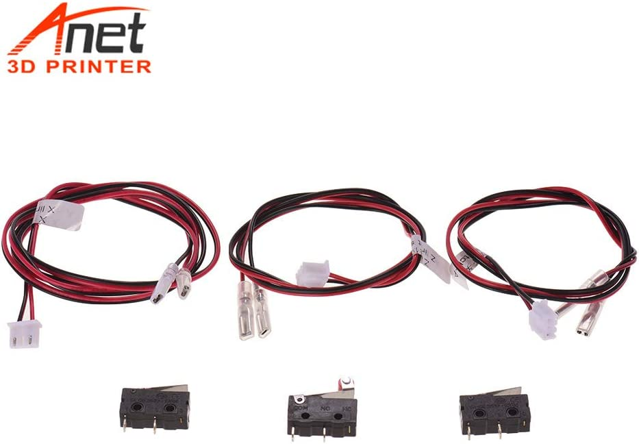 Aibecy Anet 3D Printer Parts End Stop Endstop Limit Switches Plug Control with 24AWG Cable 2 Pins Switch for Anet A8 Plus Desktop 3D Printer